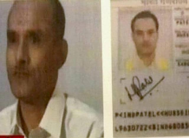A TV grab of Kulbhushan Jadhav, who has been arrested in Pakistan.