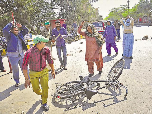 Protests by Jats in Haryana in February had spilled over to some places in UP.