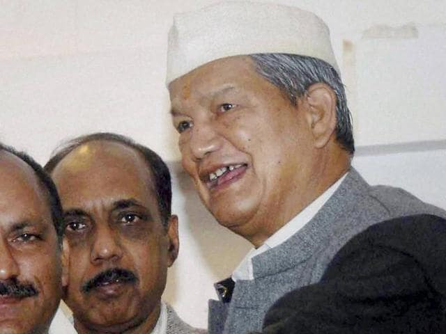 Harish Rawat  the chief minister of Uttarakhand where President's rule was imposed on Sunday.