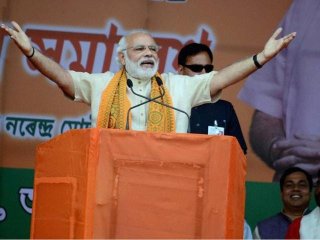 Narendra Modi offered a three-point agenda: development, fast development and widespread development.