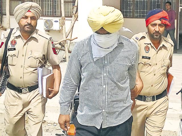 Accused Bachittar Singh being produced in a Patiala court on Saturday.