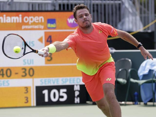Stan Wawrinka lost to Andrey Kuznetsov of Russia 4-6, 3-6.