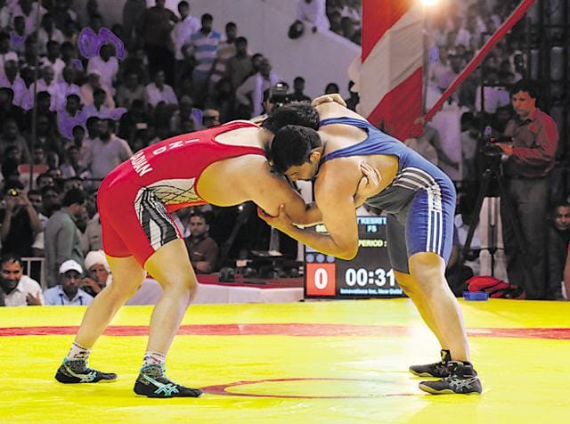 As many as 78 wrestlers competed in the three-day Bharat Kesri Dangal at Tau Devi Lal stadium in Gurgaon for the Rs. 1 crore prize money.