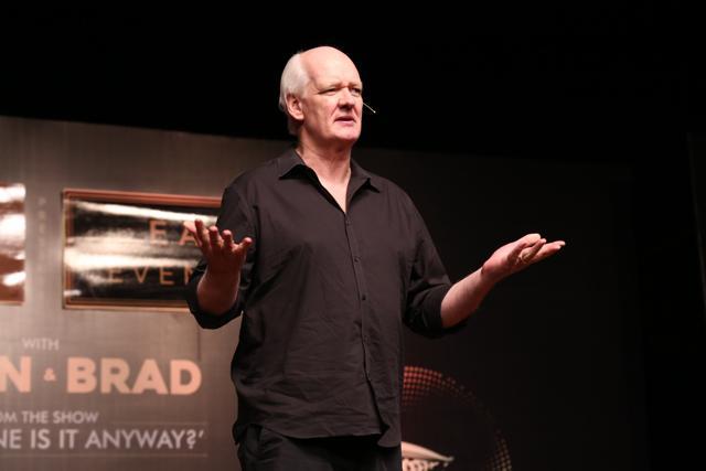 (L-R)  Stand up comedians-Brad Sherwood, Colin Mochrie.