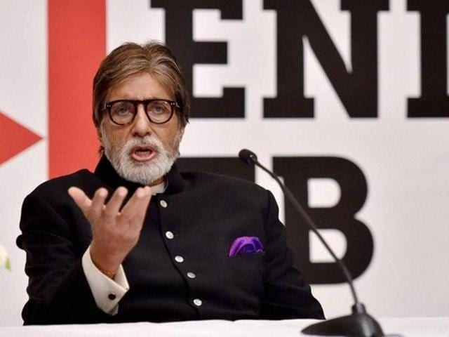 Bollywood actor Amitabh Bachchan speaks during a press briefing on the US government's commitment to end TB, ahead of the World TB Day in New Delhi on Monday. (PTI)
