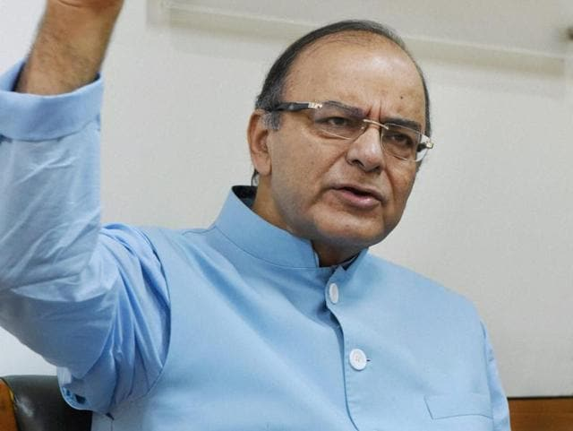 Union finance minister Arun Jaitley speaks during an interaction with journalists, in New Delhi.