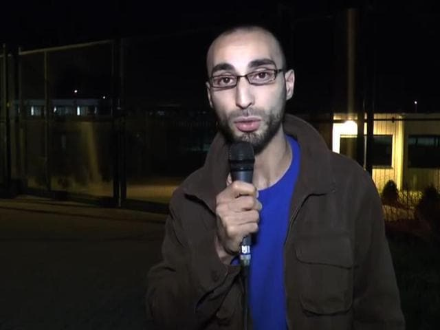 Faycal C, one of the main suspects of the Brussels attacks, speaking in a video posted on YouTube in 2014, in which he calls himself an independent journalist.