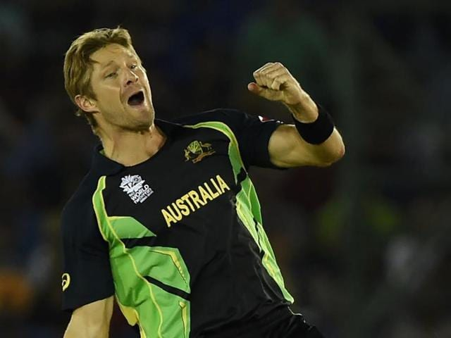 Shane Watson hit a useful 18 runs and claimed two wickets in his final T20 International.