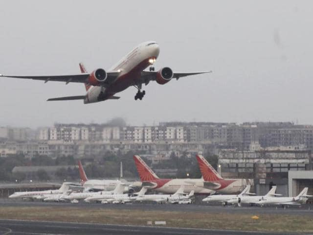 No one was injured in the incident which occurred after flight AI 620, carrying 120 passengers and six crew members, landed at the Mumbai airport at around 0720 hours.