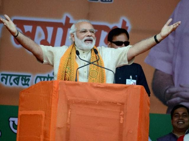 """Hitting back after his government faced criticism over handling of the Vijay Mallya case, Modi alleged that Congress was opening banks for the rich during its rule and """"its governments who have through these banks filled the coffers of the rich too will have to pay""""."""