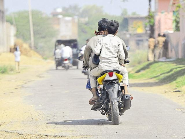 Stolen bikes are driven without number plates in Mewat, say locals.
