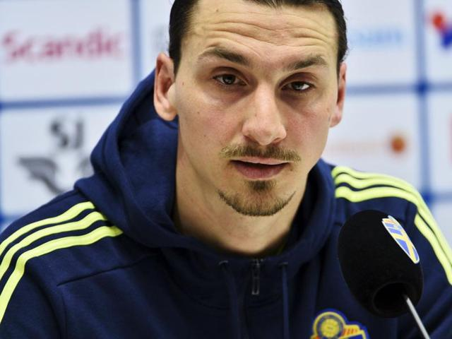 Zlatan Ibrahimovic hinted at a possible move to the Premier League at the end of the season.(AFP Photo)