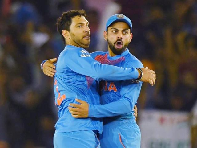 Yuvraj Singh took a wicket on his first ball of the World T20, but his inability to keep up with the scoring rate due to a twisted ankle also left Virat Kohli and MS Dhoni with a lot to chase.