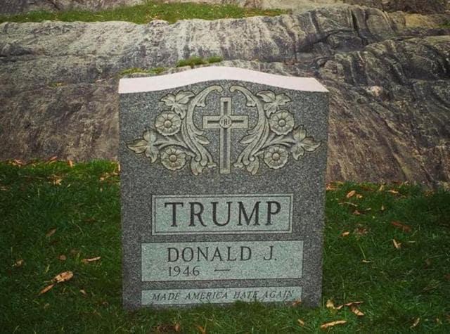 Donald Trump 2016,Trump tombstone,Donald Trump racist comments