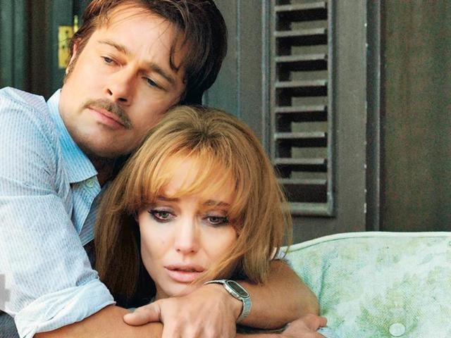 Brad Pitt and Angelina Jolie in a still from their relationship drama movie By the Sea.