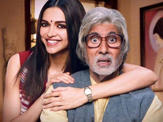 Deepika Padukone and Amitabh Bachchan in toilet drama, Piku.
