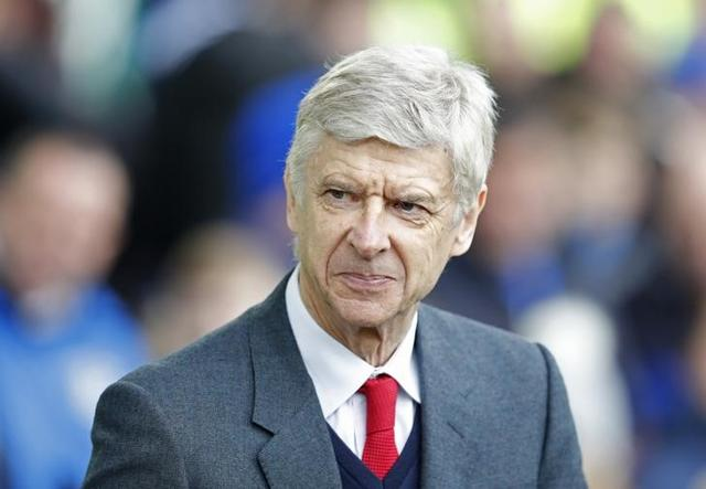 Arsenal manager Arsene Wenger reacts during his team's match against Watford.