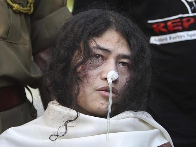 Irom Sharmila, who has been fasting for over 16 years to protest the Afspa in Manipur.(AP file photo)