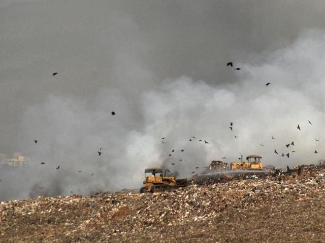 Another minor fire was reported at the Deonar dumping ground on Monday.