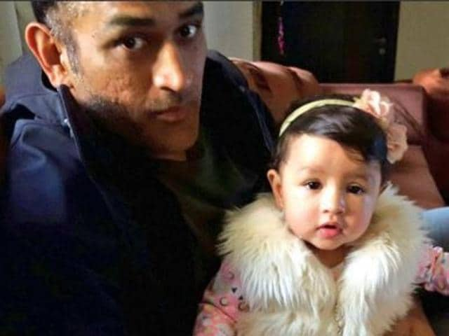 Ziva, Dhoni's daughter, has flown to Mumbai with her mother Sakshi to watch the match.