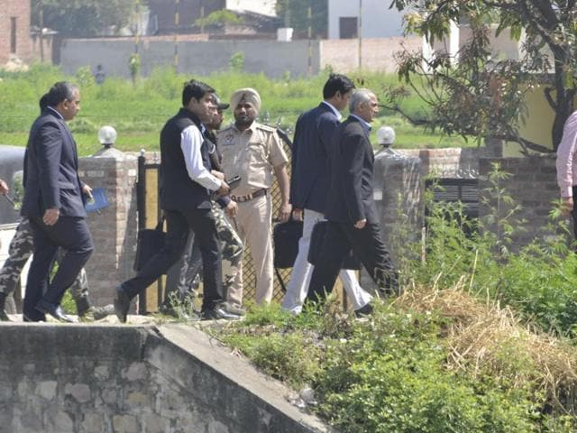 A Pakistani probe team got a sneak peek of the Pathankot air base on Tuesday as it retraced the Jaish-e-Mohammed terrorists' trail during the audacious attack on one of India's frontline defence installations in January.