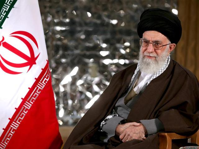 Iran's Supreme Leader Ayatollah Ali Khamenei poses before delivering a speech marking Nowruz, the Iranian new year, in this photo released by his website.