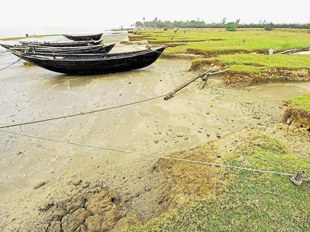Ghoramara, a 4.8 square km island in Bay of Bengal  in the Sunderban region of West Bengal.  Around 5,000 residents live without electricity,fighting odds like erosion, lack of health facilities, modes of communication and so on.