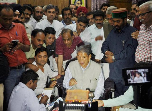 Ousted chief minister Harish Rawat challenged the President's rule in the Uttarakhand High Court, which has ordered a floor test.