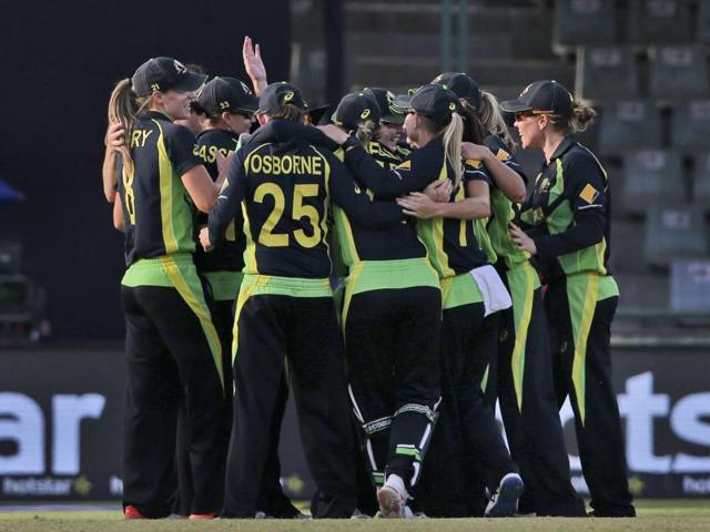Captain Meg Lanning top scored with 55 to lead holders Australia into their fourth straight Women's World T20 final.