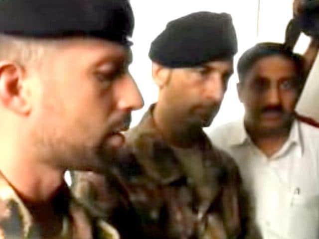 Italian marines Massimiliano Latorre and Salvatore Girone, accused of killing two Indian fishermen.