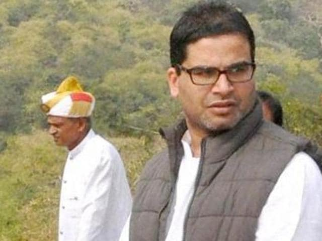 Prashant Kishor with Bihar chief minister Nitish Kumar while he was working for the Grand Alliance during the Bihar polls last year.