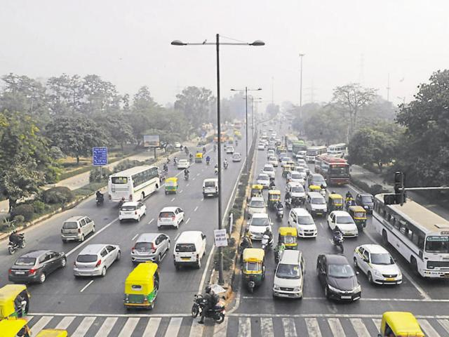 A view of traffic at ITO  during the first phase of odd-even restrictions  in Januray, 2016.