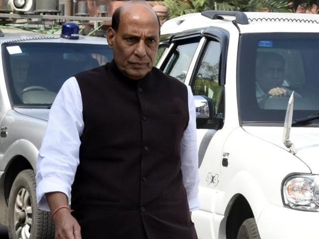"Rajnath Singh on Sunday offered ""all possible support"" to Jammu and Kashmir Chief Minister Mehbooba Mufti following the death of 16 people in clashes with security forces. (Photo by Sonu Mehta/ Hindustan Times)"