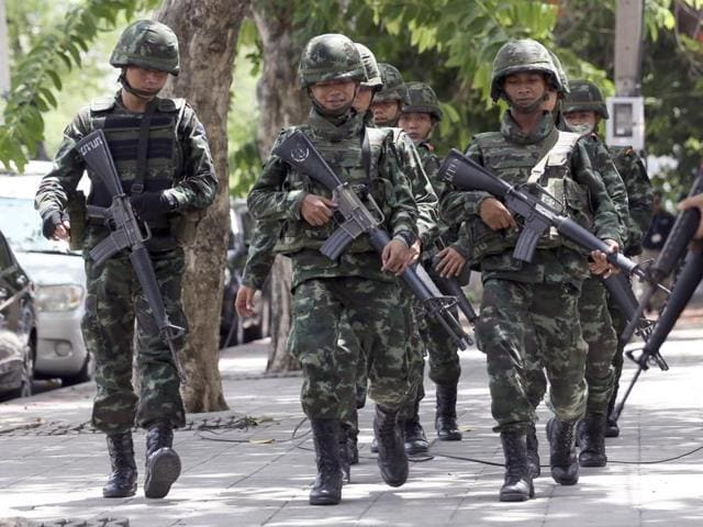 Thailand's junta chief has given the military broad new police-like powers to arrest and detain criminal suspects on Wednesday.