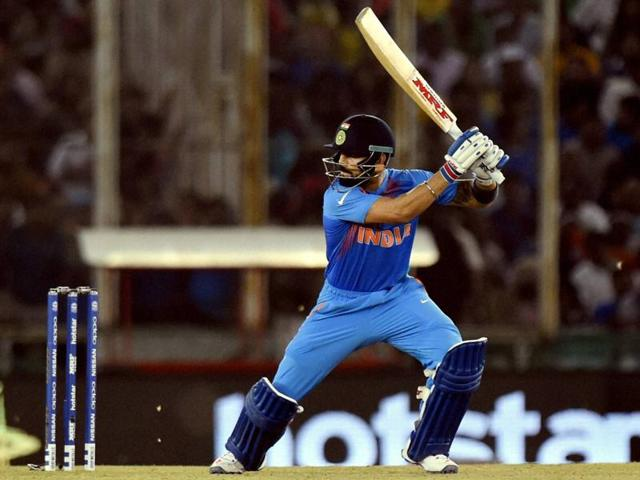 Against Asutralia in Mohali, Virat Kohli  stuck to  orthodox batting and never tried any innovative shot.