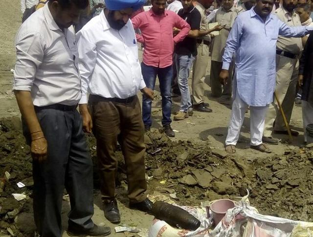 Preliminary investigation conducted by the police found that some factory owner had thrown the shells in the sewage.
