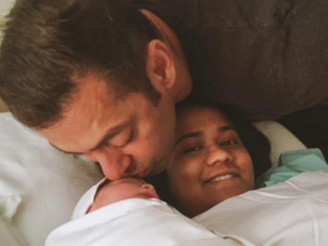 Salman khan,Arpita Khan Sharma,Arpita son