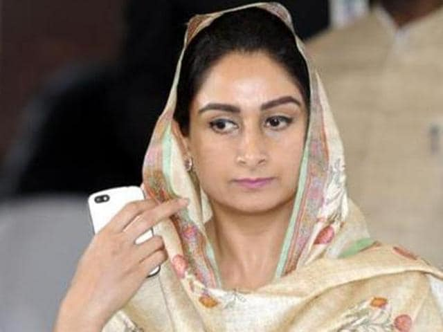 Union minister for food processing and member of Parliament (MP) from Bathinda Harsimrat Kaur.