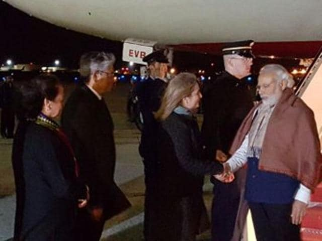 PMModi arrives in Washington to attend the Nuclear Security Summit.
