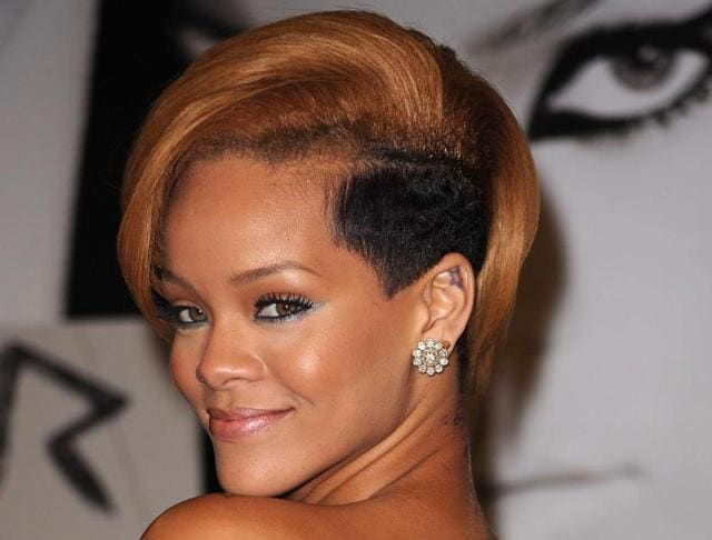 Singer Rihanna sporting an undercut - which is a huge trend this summer