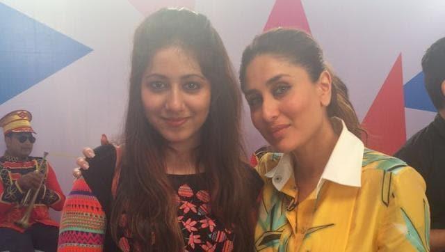 Kareena Kapoor Khan with her fan, Kiran, who came to Mumbai from Myanmar to meet the actor.