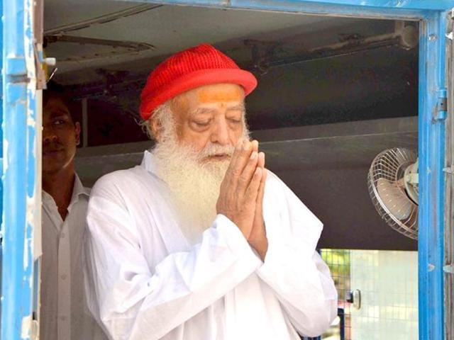 Asaram has been lodged at Jodhpur jail since August 2014 in connection with a rape case filed against him by police.