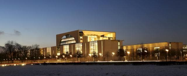 File photo of the Chancellery in Berlin, Germany. Islamic State posted pictures on the Internet calling on German Muslims to carry out Brussels-style attacks in Germany.