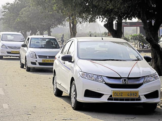 Around 12,464 diesel and 707 petrol cabs ply in Gurgaon every day.