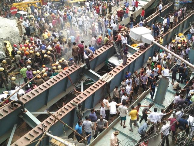 At least 18 people were killed and dozens more injured when the flyover collapsed in Kolkata.