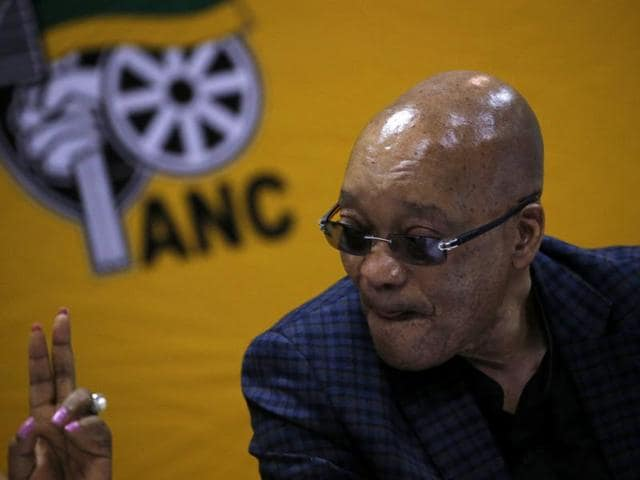 South African Chief Justice Mogoeng Mogoeng delivers the Constitutional Court verdict on President Jacob Zuma's conduct regarding his private residence in Johannesburg on Thursday. Zuma flouted the Constitution in using public funds to upgrade his private residence.