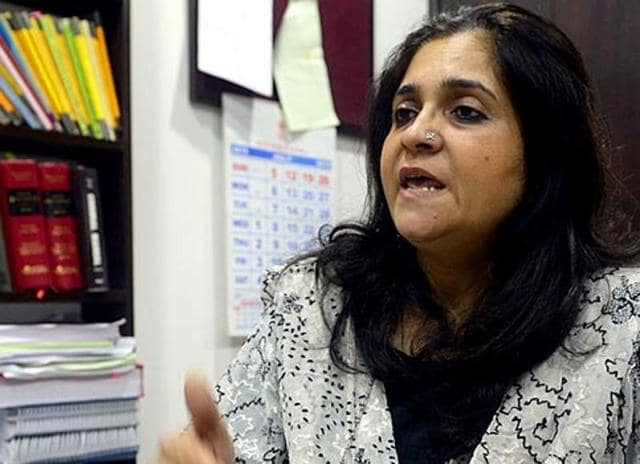 Civil rights activist Teesta Setalvad and two CPI (M) MPs were not allowed to enter University of Hyderabad on Tuesday, evoking protests from students.