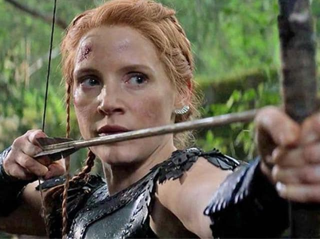 Jessica Chastain in a still from her upcoming film The Huntsman: Winter's War.