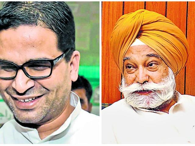 The no-holds-barred war of words between Punjab Congress president Captain Amarinder Singh and senior party leader Bir Devinder Singh (right) escalated on Thursdayeven as poll strategist Prashant Kishor (left) tried to resolve the crisis.