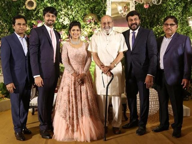 The power-packed reception included the who's who of Telugu filmdom and politics.